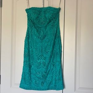 Sue Wong strapless cocktail dress size 4